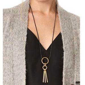 Madewell Hammered Rings Bars Cord Necklace
